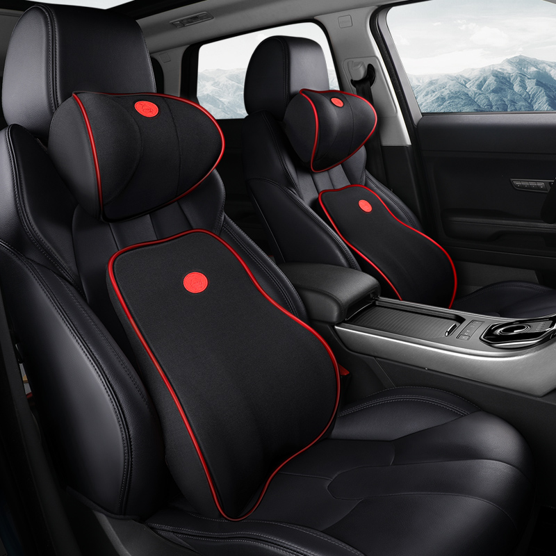 Car Cushion Seat Lumbar Support Office Chair Low Back Pain Pillow Memory Foam Black Posture Correction