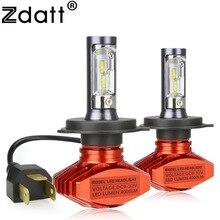 Zdatt фар H4 H7 H8 H9 H11 H1 9005 HB3 9006 HB4 9003 HB2 Светодиодная лампа 80 Вт 8000Lm автомобиля свет 12 В туман лампа светильник автомобилей 6000 К csp светодиоды h4 led bulb автомобиль авто лампы