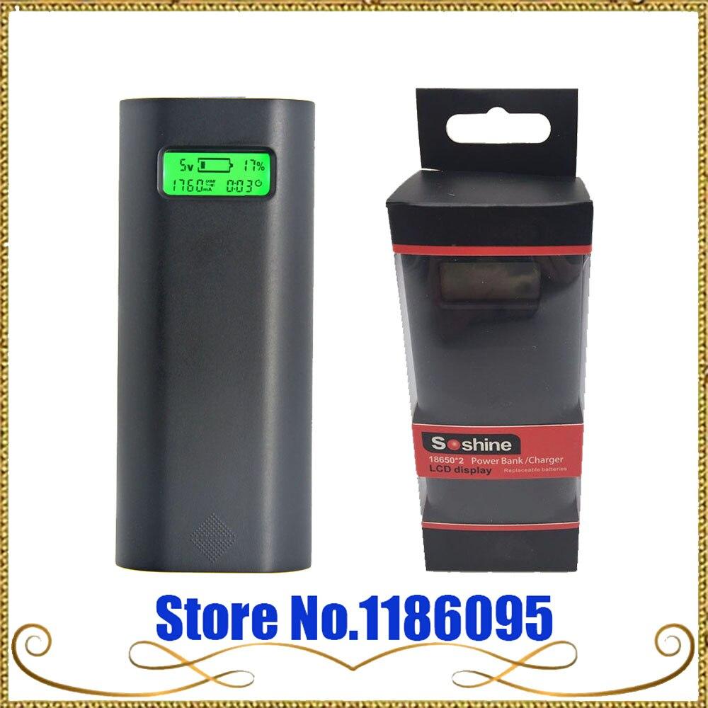 Soshine e4s 2×18650 Батарея Зарядное устройство чехол ЖК-дисплей Дисплей мобильного телефона Запасные Аккумуляторы для телефонов Dual USB Intelligent Мощно…