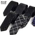 Hombres de negocios de los traje y corbata nano impermeable lazo de impresión de las rayas de la tela escocesa Gravata para hombre y del novio del lazo de negocios Vestidos