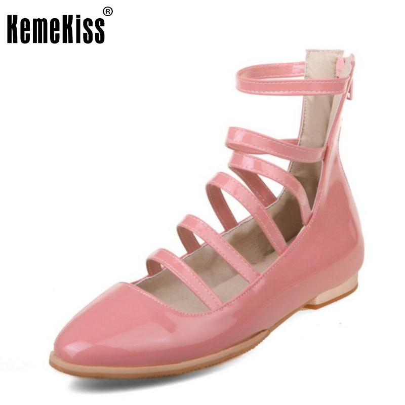 New Women Flat Shoes Women Fashion Ankle-Wrap Patent Leather Flats Casual Round Toe Sexy Comfortable Ladies Shoes Size 34-39 2016 new fashion women flats women genuine leather flat shoes female round toe casual work shoes women shoes