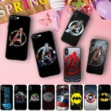 Marvel Avengers Case For iphone 7 Case Iron Man Captain America Silicone Cover Phone Cases For iphone 6 6S 5S XR XS Max 8 PLus X
