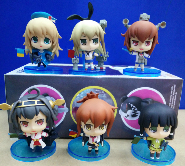 6pcs/set 10cm kantai collection Action Figure PVC Collection Model toys brinquedos for christmas gift free shipping