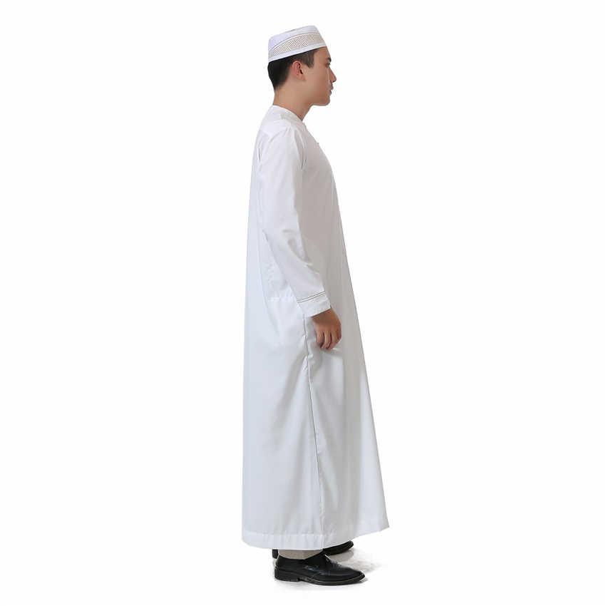 Men Islamic Clothing Jubba Thobe Arabic Traditional Muslim Robes Arab Saudi  Dubai Oman for Man Kaftan Islam Long Clothes 52-62