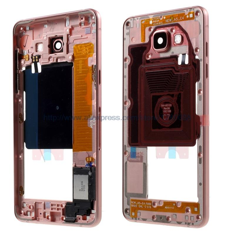 Original A510F Middle Housing Frame with Small Parts for Samsung Galaxy A5 SM A510F 2016