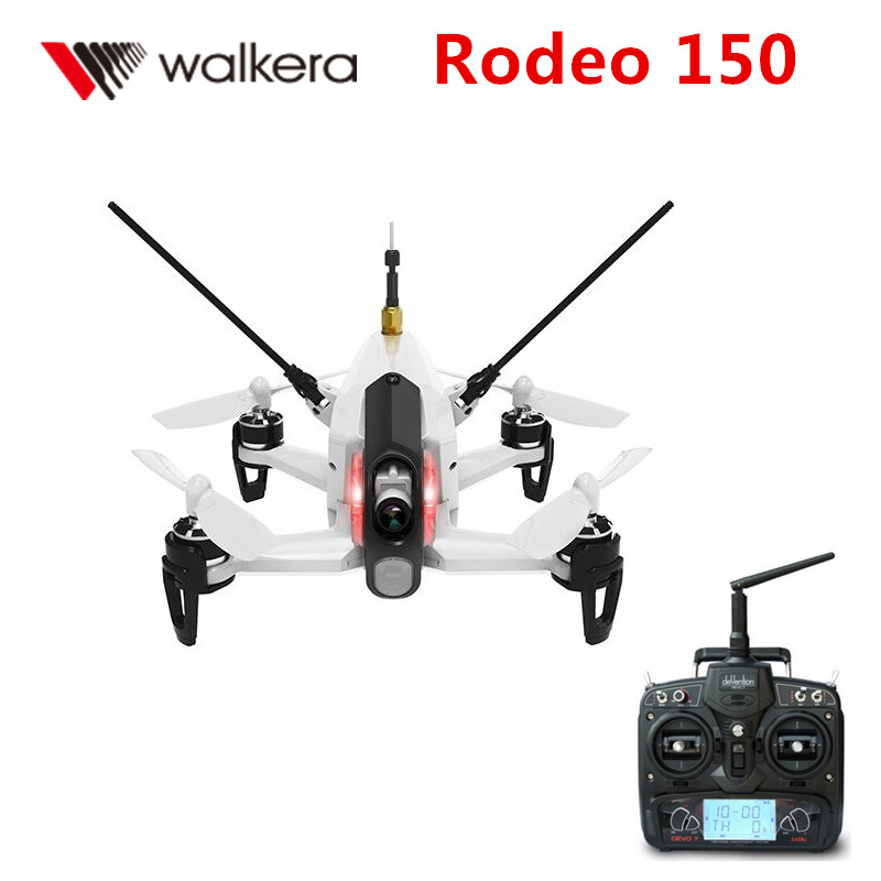 Walkera Rodeo 150 with DEVO 7 Remote Control Racing Drone with 600TVL Camera RTF walkera rodeo 150 bnf without transmitter rc racing drone with 600tvl night vision camera 150 size