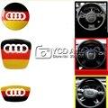 Новая Конструкция Из Углеродного Волокна Руль Украшения Sline Автомобилей Обложки для Audi A4 B8/A1/A3/A4L/A6 C7 Автомобиля укладки
