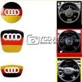 New Design Carbon Fiber Steering Wheel Decoration Sline Car Covers For Audi A4 B8/ A1/ A3/ A4L/ A6 C7 Car Styling