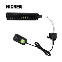 Nicrew 48 LED Bulbs Clamp Lamp Clip Light With 360 Degree Rotation Soft Arm White And