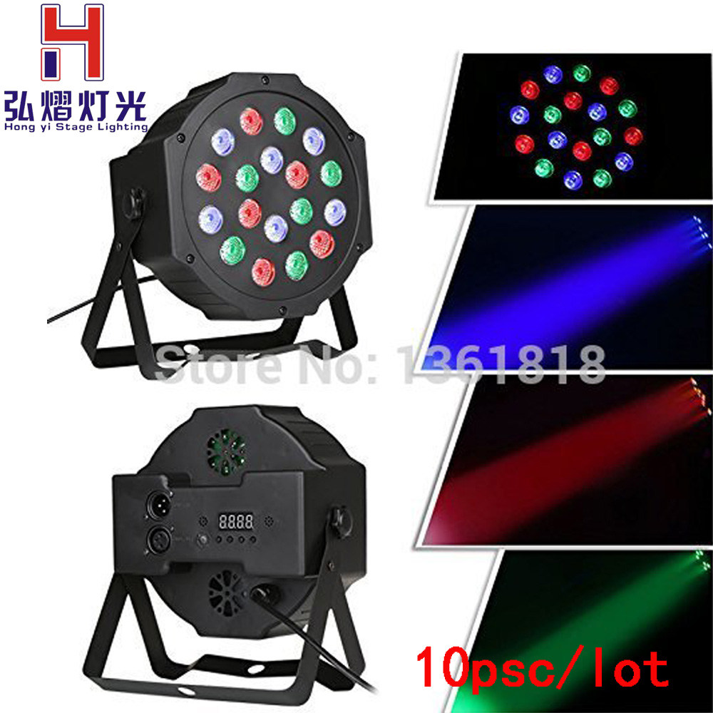 (10 pieces/lot) led par dmx dj light 18*3w rgb led wash 54w par led stage light(10 pieces/lot) led par dmx dj light 18*3w rgb led wash 54w par led stage light