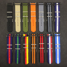 Радуга Цвет 40 мм 44 мм, нейлоновый ремешок для наручных часов Apple Watch серии 3/2/1 Спортивный Браслет, 42 мм, 38 мм, ремешок для наручных часов iwatch, 4 полосы