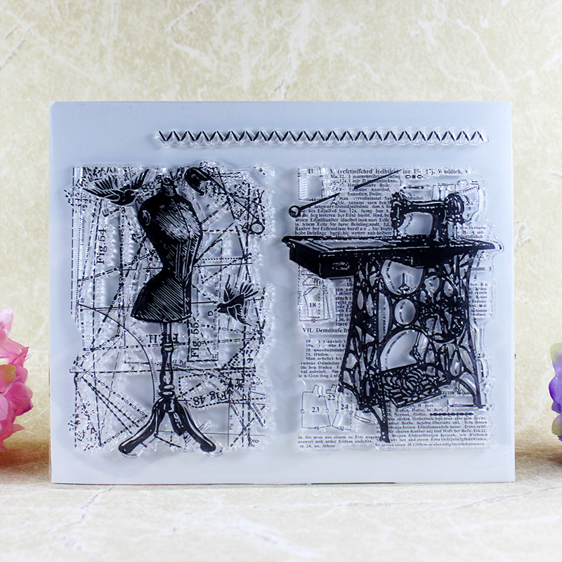 The sewing machine Transparent Clear Stamp DIY Silicone Seals Scrapbooking/Card Making/Photo Album Decoration Supplies A052 lovely animals and ballon design transparent clear silicone stamp for diy scrapbooking photo album clear stamp cl 278