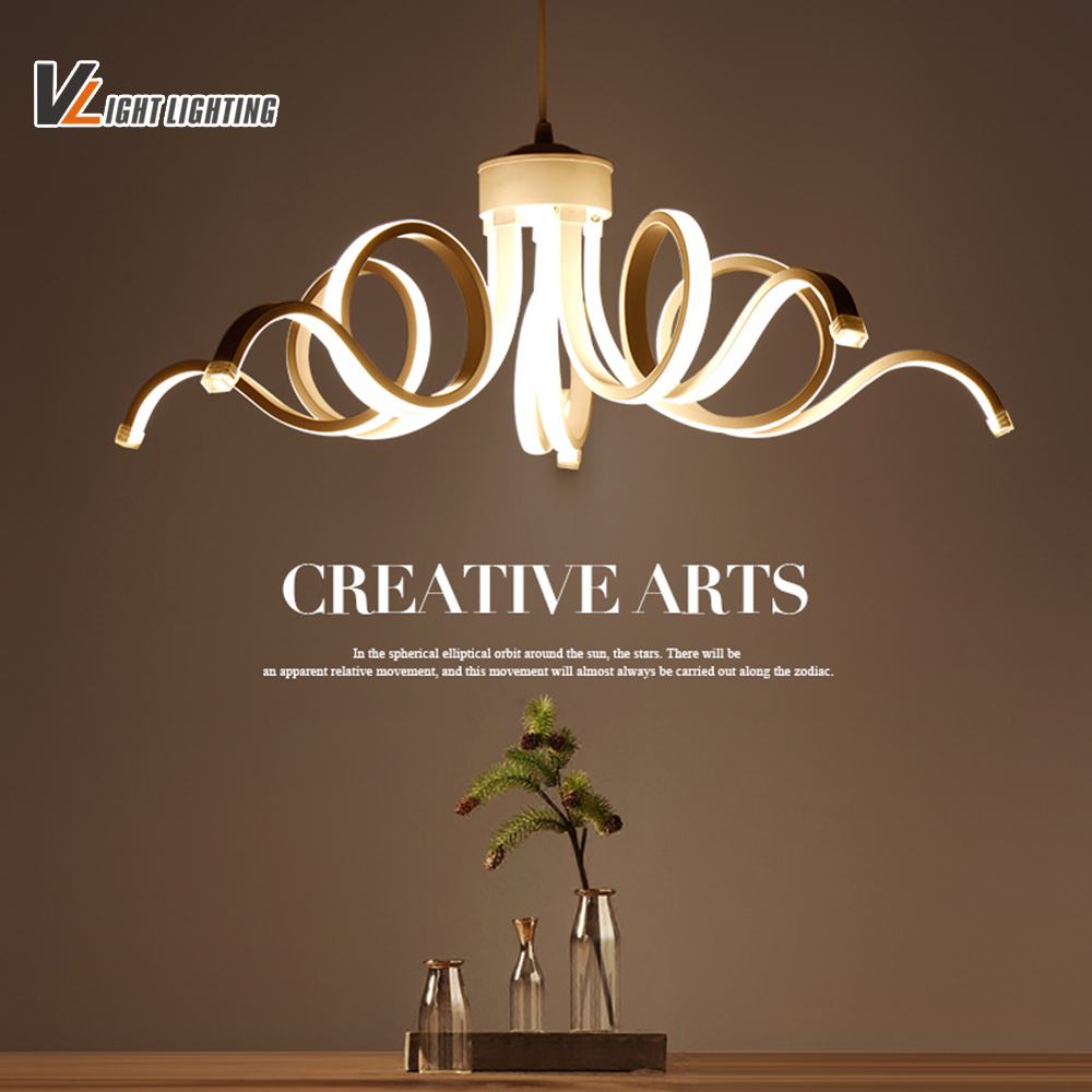 LED Modern Pendant Lamp For diningroom Living Room Pendant lamps Indoor Fixture Acrylic Hanging Lighting 85-265V