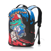 ce9e7ed3f1 TOFI Fashion Printing Crocodile and Dog School Backpack For Teenager Cool  Graffiti Nylon 16inch Laptop Backpack