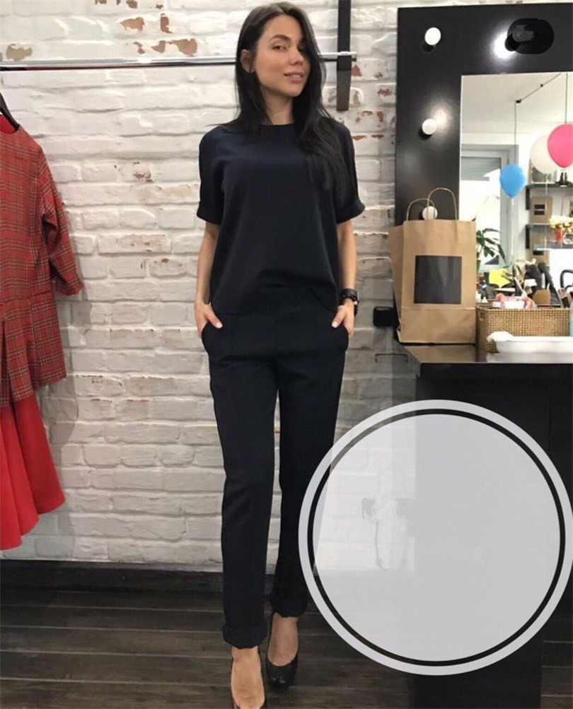 Fashion casual suit 2018 summer wear short sleeved jacket, western style, Nine minutes of pants, two sets of small pants 2