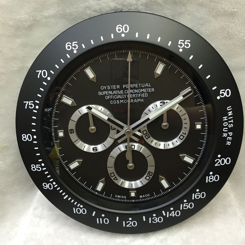Luminous Top Design Quality Metal Watch Shape Wall Clock With Silent Mechanism With Corresponding Logos