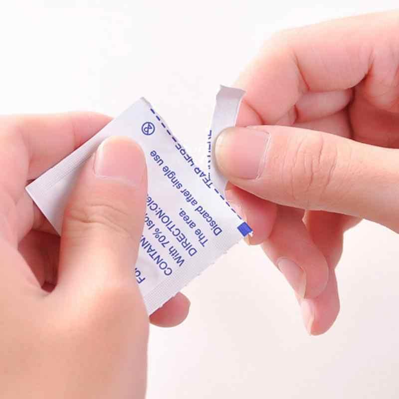 100 unids/lote almohadilla de intercambio de Alcohol para limpieza de la piel antiséptica joyería de limpieza de teléfono móvil