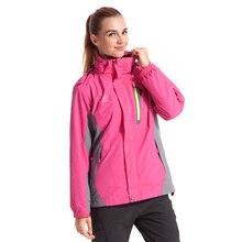 2016 women hood jacket warm 3 in 1 women's winter jacket for outdoors hiking camping running traveling JW4038