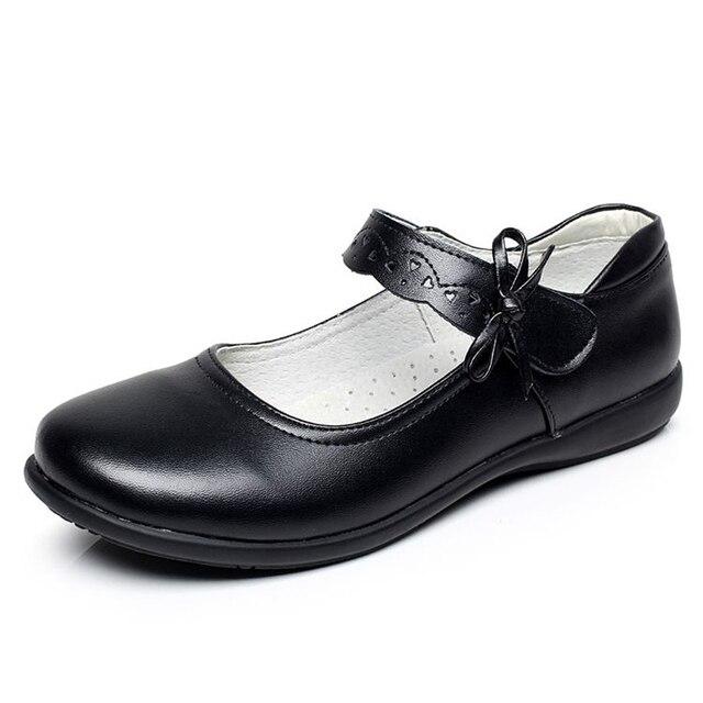 805e66c7 2017 NUEVOS Niños de Uniforme Escolar Zapatos de Niña Zapatillas de deporte  de Cuero de Moda