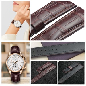 Image 3 - ZLIMSN Crocodile Leather Watch Band Quick Installation Mens Women Luxury Strap Size 12mm 26mm Suitable for Apple 38mm 42mm Watch