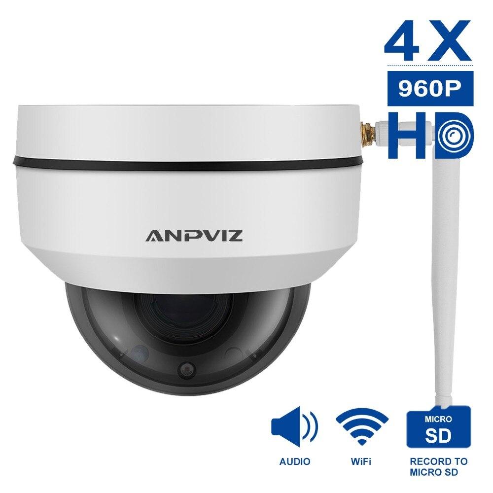 цена Anpviz 960P/1080P Wifi Camera mini cam PTZ Dome IP Camera 4X Zooming videcam surveillance Webcam Road alarm system CCTV Webcam