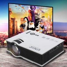 Projector UNIC UC40+ 800LM 800 x 480 Pixels Simplified Micro Projector For Home Business Portable High Definition LCD Projector