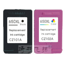 Compatible ink cartrides 650XLBK 650XLC for HP 650 Black & Color ink cartridge For HP Printer 1015 1515 2515 2545 2645 3515 4645