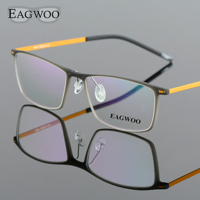 834beb0f5a EAGWOO EMS Eyeglasses Men Boy Male Light Full Rim Optical Frame Prescription  Spectacle Square Glasses 890072