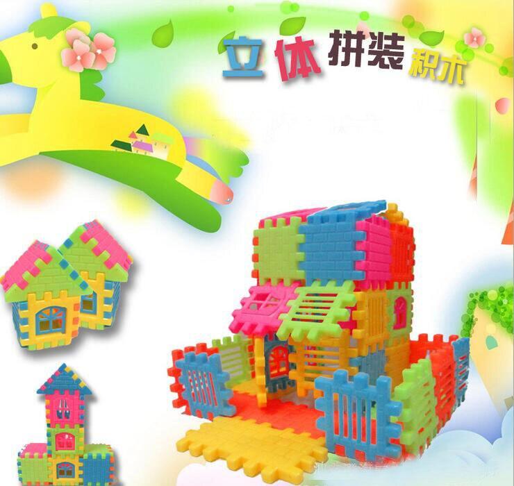 44kpl Hot Sale Uusi tuotemerkki Baby Kid Lasten talo Rakennuspalikat Rakentaminen Kehityslelu Aseta Aivopeli