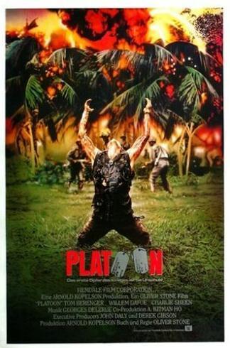 Cartaz do filme do pelotão da guerra do vietnã 1986 poster de seda pintura decorativa 24x36inch