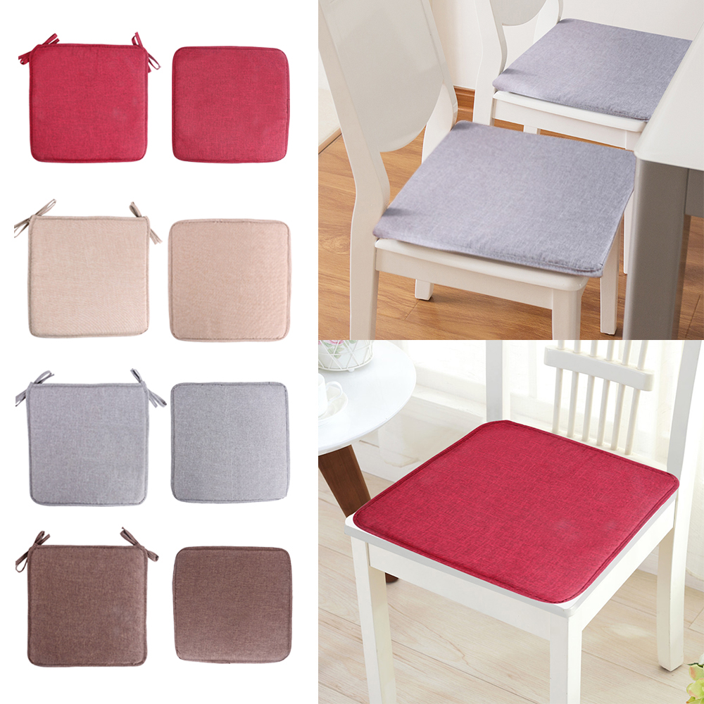 2019 New 40x40cm Non-slip Sofa Seat Cushion Pure Color Square Seat Pad Chair Cushion Soft Pillow For Padchair Chairs New(China)