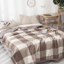 water washed 100% Cotton Gauze Blanket Adult Muslin Quilt Comforter Bedding Quilted Coverlet Soft Bed Blankets
