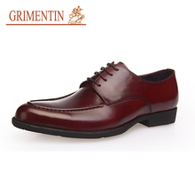 GRIMENTIN NEW 2017 Europe Style Fashion Designer Classic Dress Male Shoes Black Top Quality Leather Business Shoes Man Flats 5A7