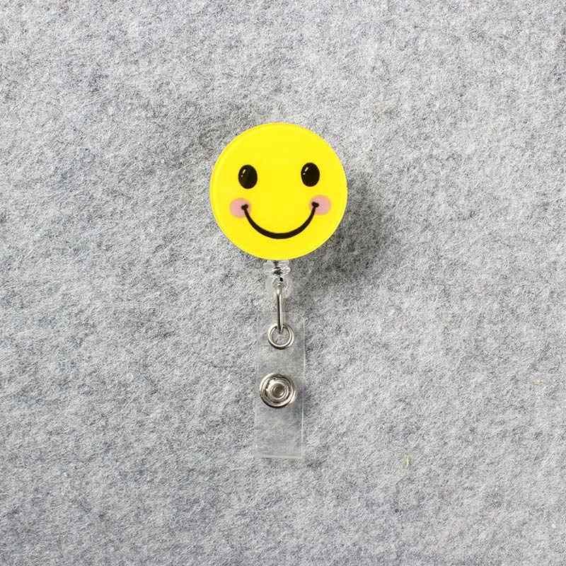 الخماسية نجمة الوجه المبتسم شارة التمرير فتاة بكرة قابلة مستشفى ممرضة معرض مدخل الحرس بطاقة حامل بطاقات التعريف الشخصية