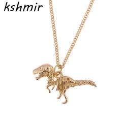 simple fashion popular metal dinosaur women necklace Men exaggerated Retro necklace EE 22