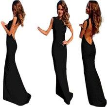 Seksi Elbise Floor Bandaj Elbiseler Yaz Seçimi 2015New sıcak Satış Bayanlar Maxi Elbise Backless Uzun Giyim Vestido Mujer C148