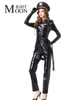 MOONIGHT Halloween Costume For Woman Sexy Police Officer Costume Adult Officer Costume Party Uniform