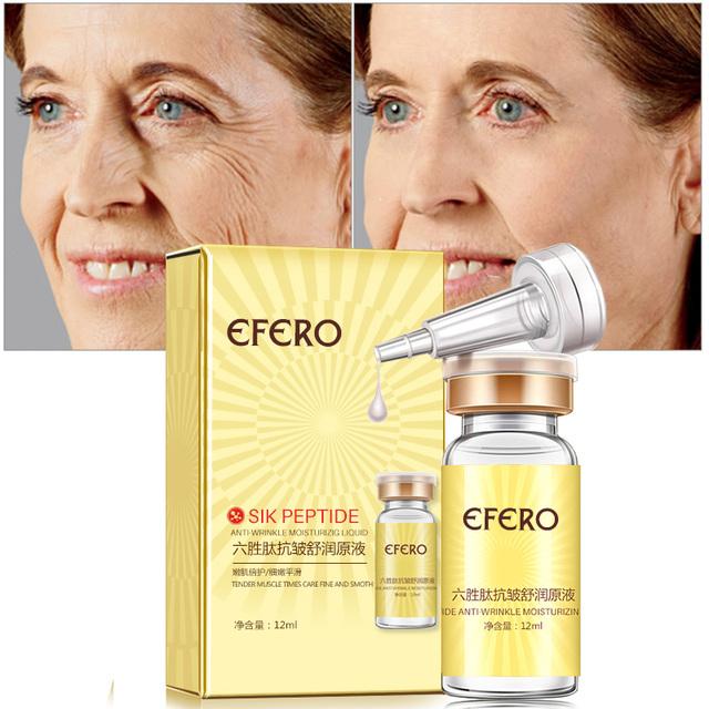 Six Peptide Face Care Lift Serum Instantly Ageless Argireline Hyaluronic Collagen Serum Anti Wrinkle Face Cream Whitening efero