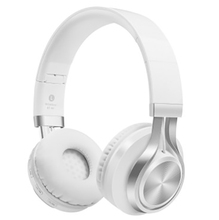 Fashion smart Bluetooth headphones bass stereo denoise support for memory card wireless and wired freely switched  foldable