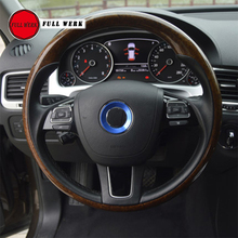Alu Alloy font b Car b font Styling Steering Wheel Center Decoration Ring Cover for VW