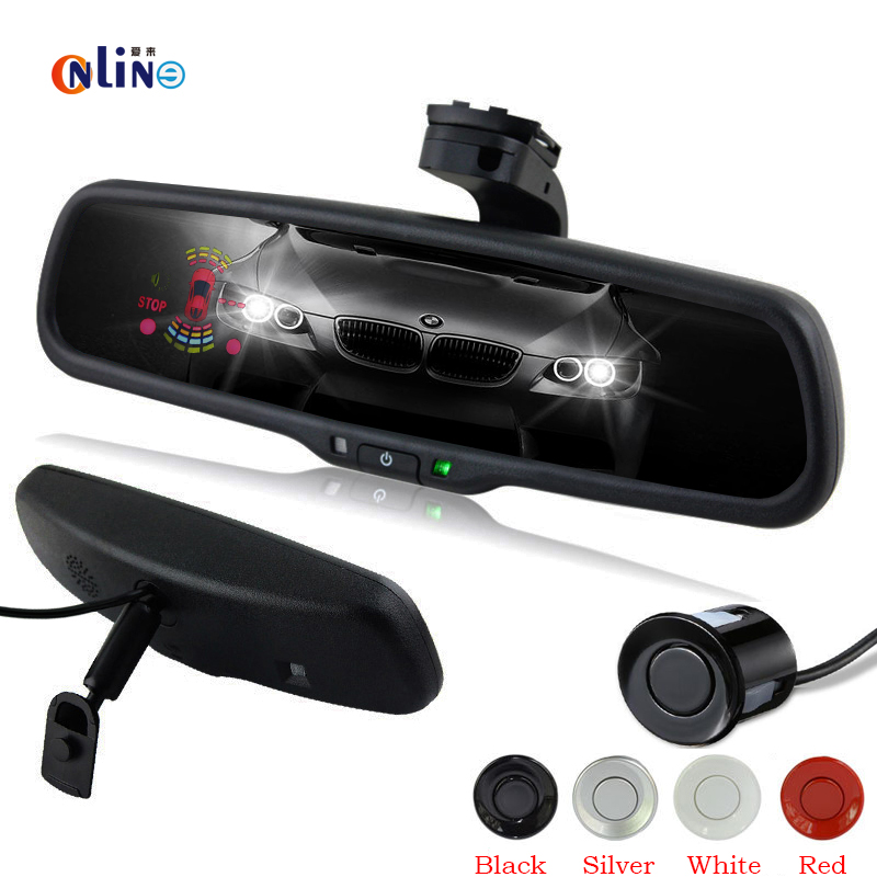 Automatic dimming Car Electronic Auto Dimming Interior Rearview Mirror With 6 Sensors Radar Monitor Detector Automobile sensors водонагреватель timberk swh se1 30 vo