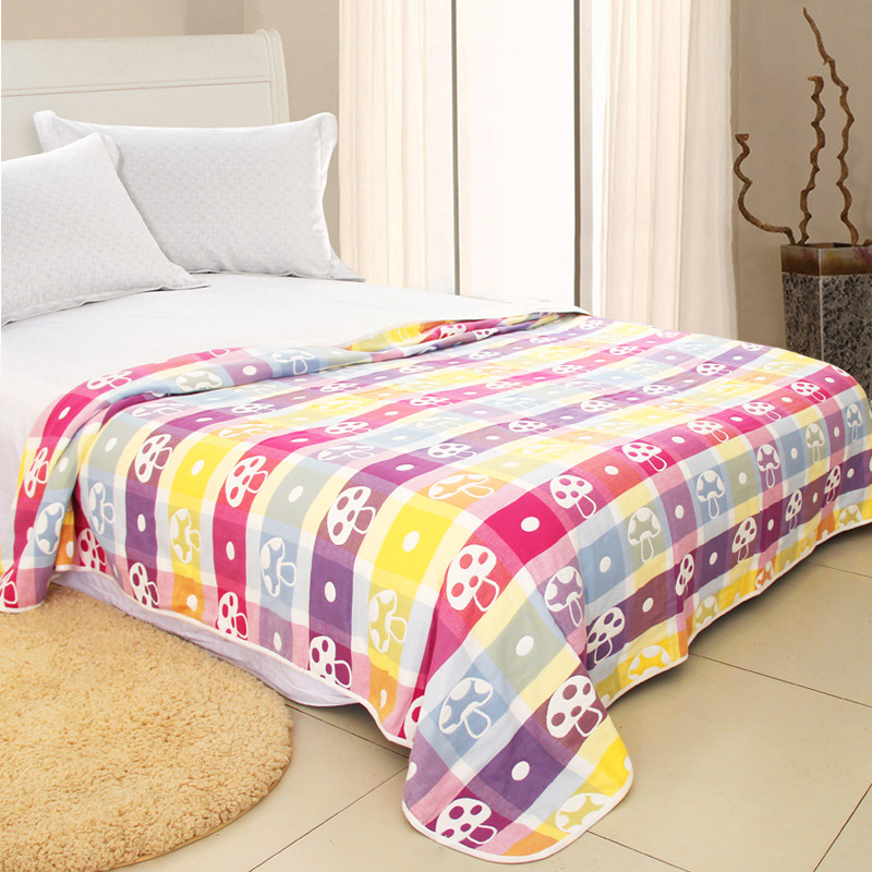 Muslin 6 layers Organic Cotton Soft Baby Bedding Blankets Summer Kids Girls boy Bath Baby Blanket Gauze Bedding Quilt 200*240cm newborn baby swaddles 120 120cm organic cotton muslin super soft unisex plain newborns spring summer babies swaddling blankets