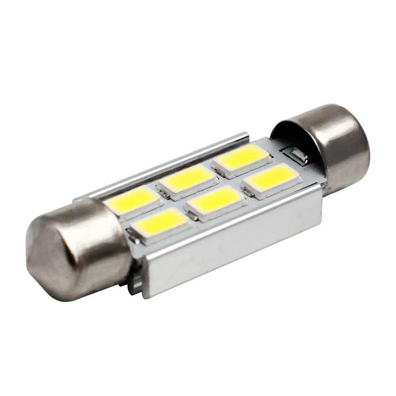 1pcs Festoon CANBUS 31mm 36mm 39mm C5W LED Lights ERROR FREE 5630 5730 6 LED SMD Car Interior Dome Bulbs Auto Map Reading Lamps