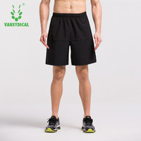 VANSYDICAL Mens Sports Running Shorts Comfortable Quick Dry Training Athletic Gym Fitness Clothing