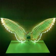 Luminous Wings Bird Glowing Fashion Women Lady LED Angel Wings Catwalk Show Clothing Light Suits Dance Dress Accessories