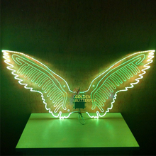 Luminous Wings Bird Glowing Fashion Women Lady LED Angel Wings Catwalk Show Clothing Light Suits Dance Dress Accessories