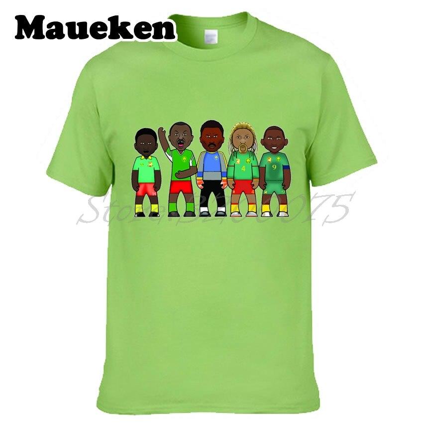 Mens Cameroon LEGENDS Theophile Abega Rigobert Song Roger Milla Samuel Etoo Thomas NKono T-shirt Clothes T Shirt tee W0522029