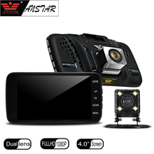 "Anstar 4"" Inch Car Dvr Dashcam 1080P Full HD Car Camera Rearview Mirror Recorder Registrator Dual Lens Camera DVR Dash Cam"