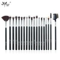 Anmor 19 PCS Professional Eye Makeup Brushes Set Synthetic Blending Make Up Brush Tools Silver Black