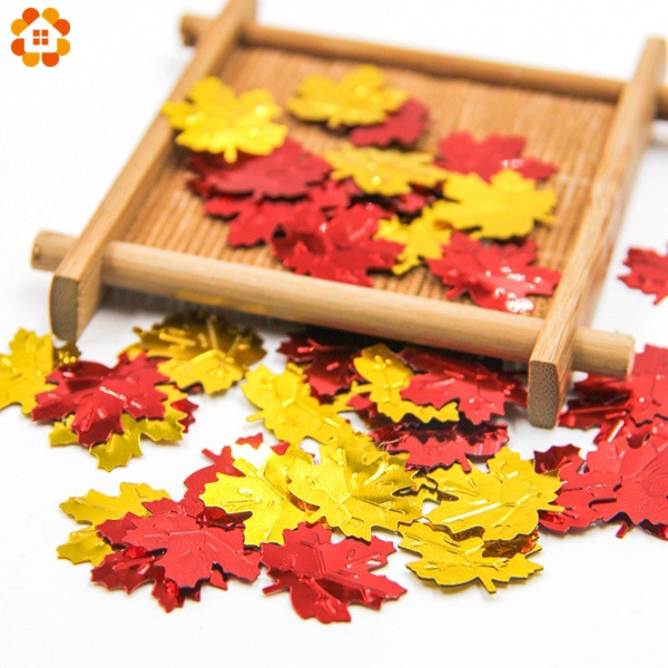 About 180PCS/Lot DIY Red/Gold Fall Leaves Shape Confetti For Home Wedding Party